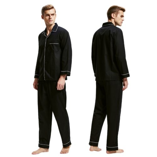 Mens Pajama Set Cotton Flannel Sleepwear