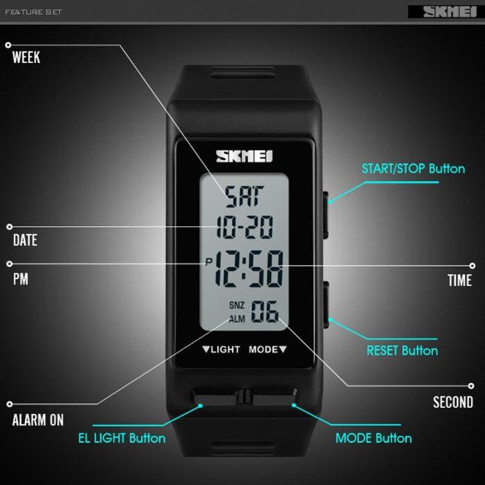 Waterproof Digital Watch Unisex Wristwatch