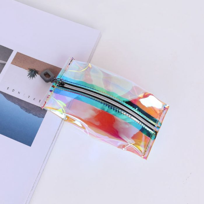 Travel Cosmetic Bag Holographic Style