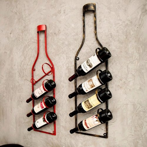Wall Wine Holder Metal Rack
