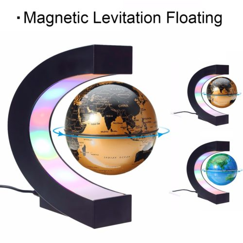 Magnetic Levitation Globe Map Decor