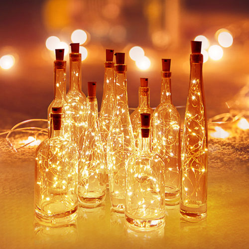 Cork Lights Bottle Fairy Lights Decor
