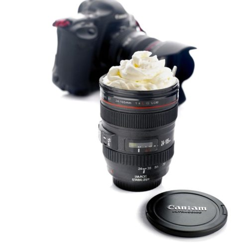 Camera Lens Coffee Mug Realistic Design