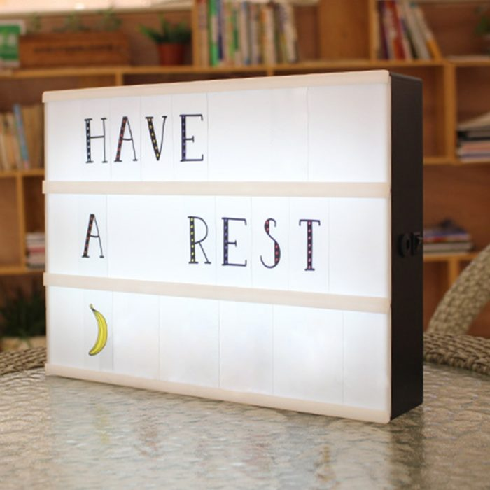 Light-Up Box Home LED Sign Decor