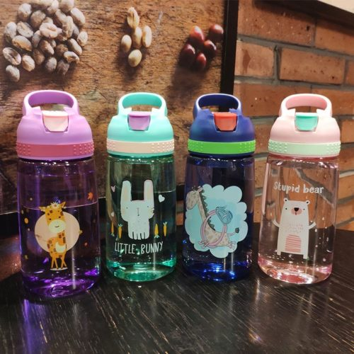 Kids Water Bottle For School With Straw