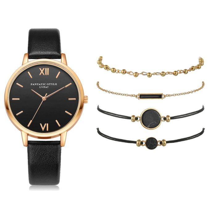 Ladies' Bracelet Watch Set (5Pcs)