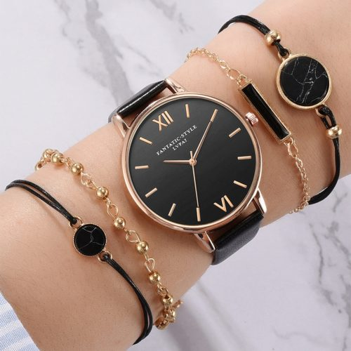 Ladies' Bracelet Watch Set (5Pcs)