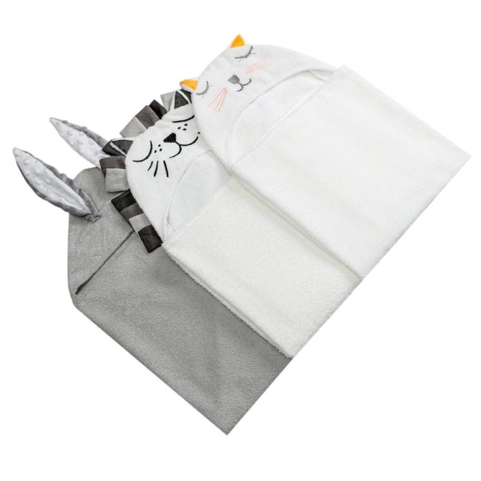 Hooded Towel For Kids Cotton Fabric