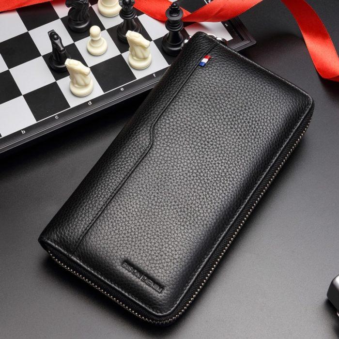 RFID Blocking Wallet Men's Long Purse