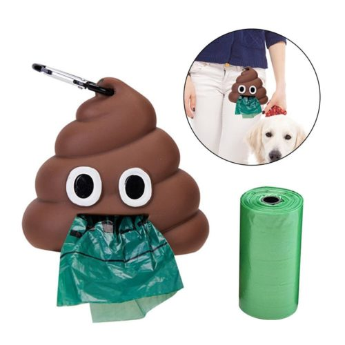 Poop Bag Dispenser Cute Design Case with Hook
