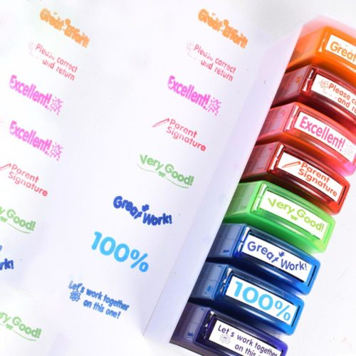 School Stamps Teacher Seal Set