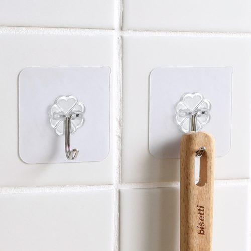 Adhesive Wall Hooks Transparent Hooks (10pcs.)