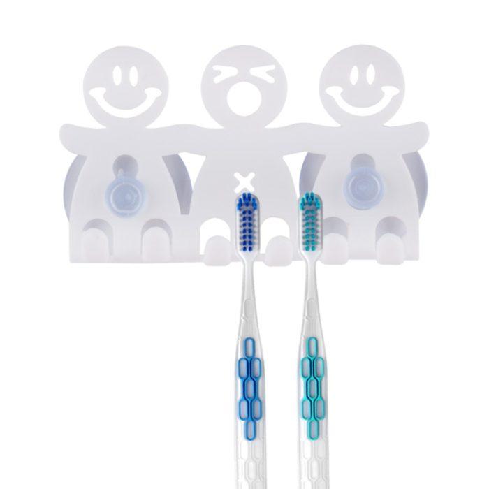 Suction Toothbrush Holder Bathroom Rack