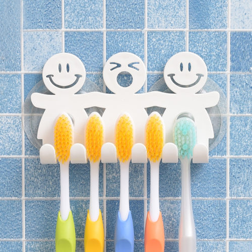 Suction Toothbrush Holder Bathroom Rack