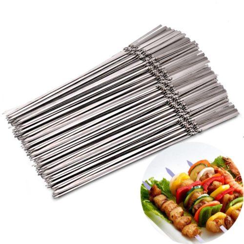 Metal Skewers 15PC Reusable Sticks