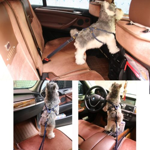 Dog Seat Dog Car Restraint Adjustable Strapelt Harness Adjustable Strap
