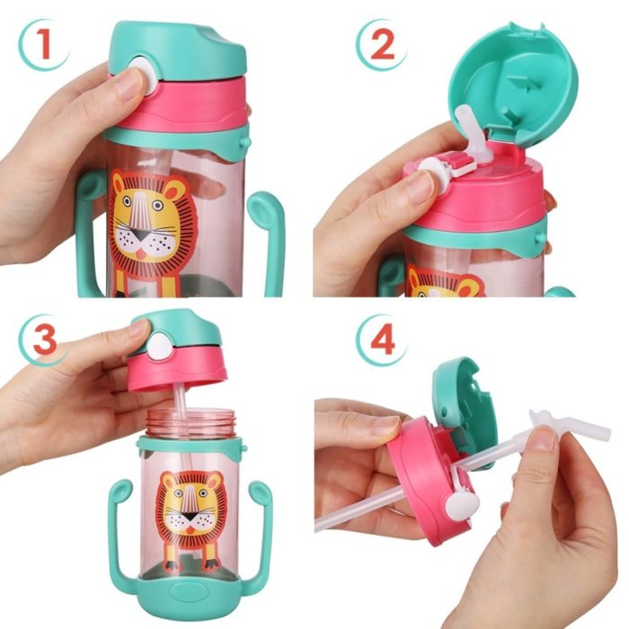 Kids Sippy Cup With Silicone Straw