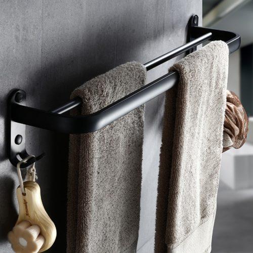 Double Towel Bar Aluminum Rack