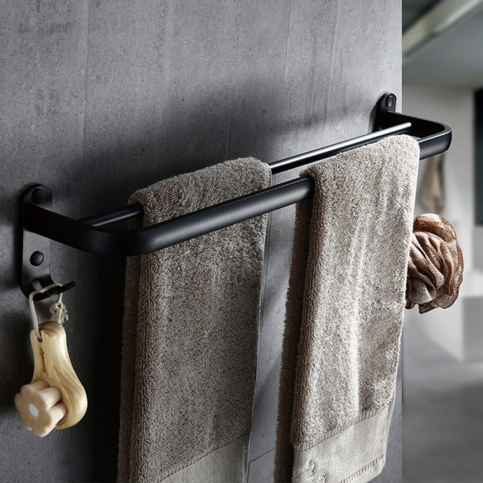Double Towel Bar Aluminum Rack