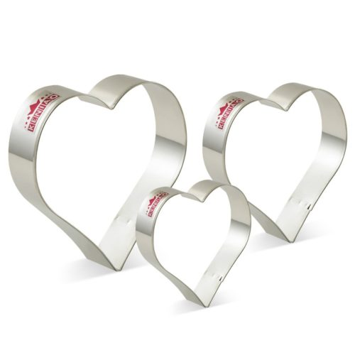 Heart Shaped Cookie Cutters 3-Piece Cutter Set