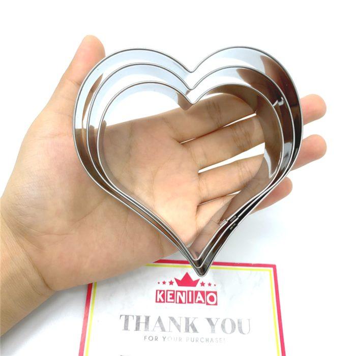 Heart Shaped Cookie Cutters 3-Piece Cutter Set