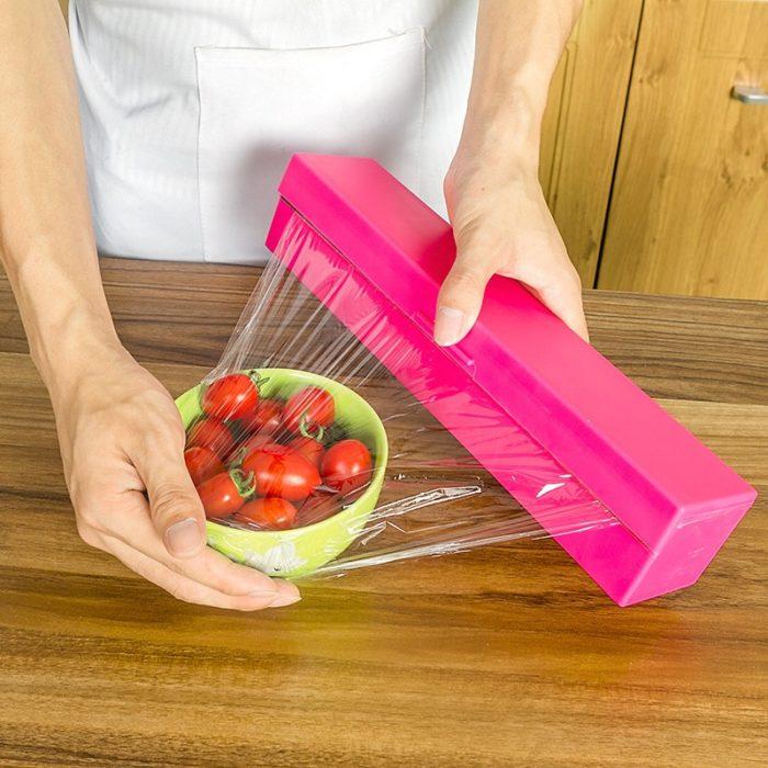 Plastic Wrap Dispenser Easy Cut Container