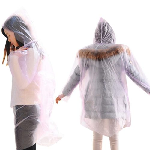Disposable Raincoat Transparent Jacket (1pc)