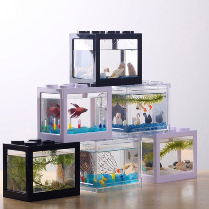 Mini Fish Tank Building Block Design