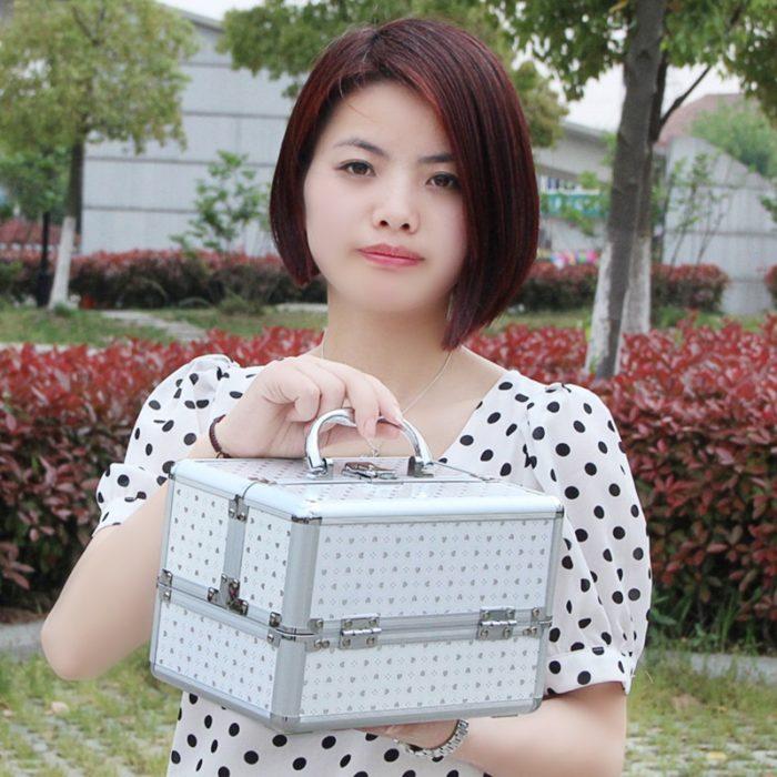 Travel Vanity Case Cosmetic Organizer