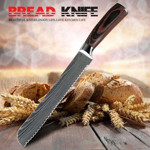 Bread Knife Stainless Serrated Blade
