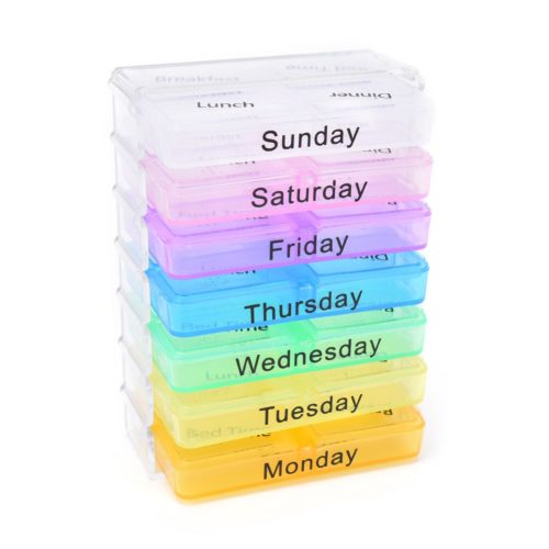 7 Day Pill Organizer Tablet Sorter