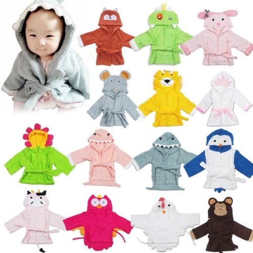 Baby Bath Robe Animal Design with Hood
