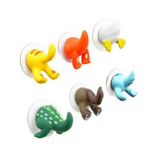 Suction Hooks Animal Tail Design (6pcs)