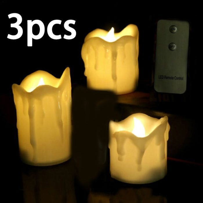 Flameless Candles with Remote (3pcs)
