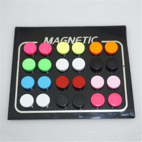 Magnetic Earrings Round Stud Earrings (12pairs)