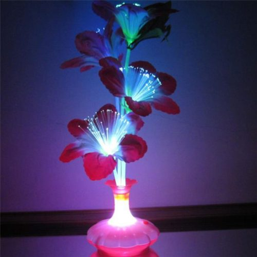 LED Fiber Optic Light Flower Vase Decor