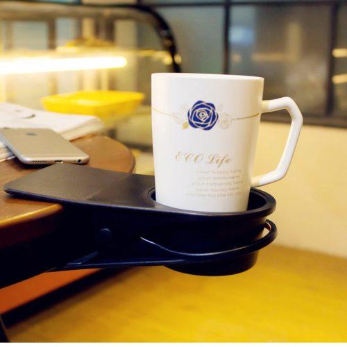 Desk Cup Holder Clip-on Design