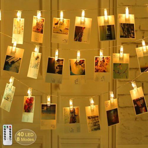 Photo Clip String Lights 40PCS LED