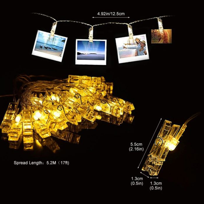 Photo Clip String Lights 40PCS LED