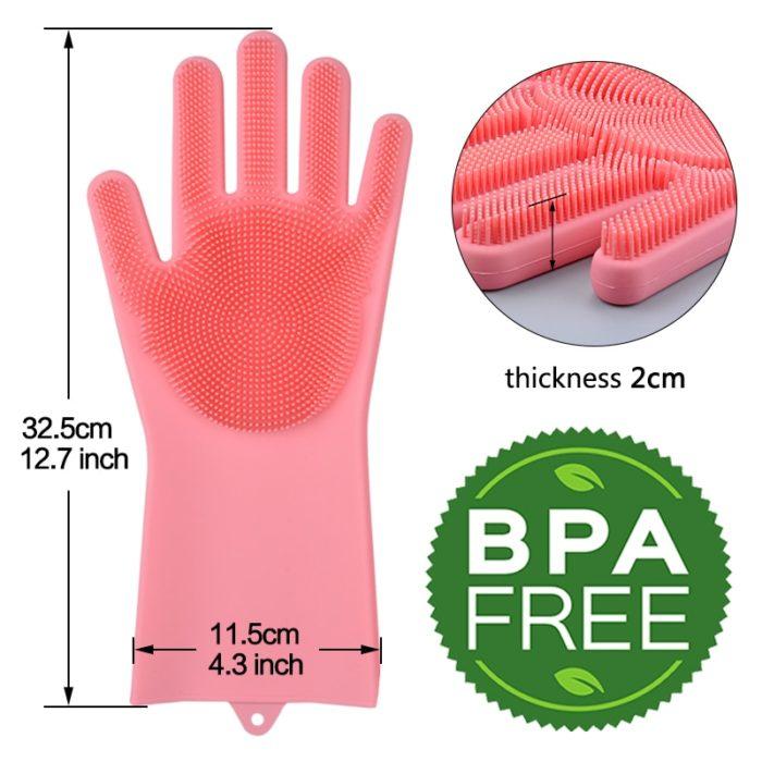 Silicone Dishwashing Gloves Cleaning Gloves