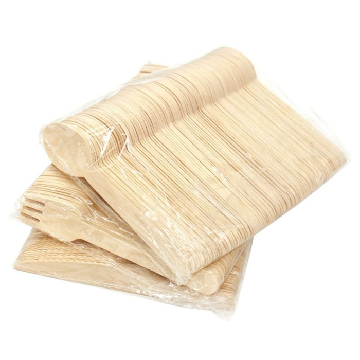 Disposable Wooden Cutlery Set