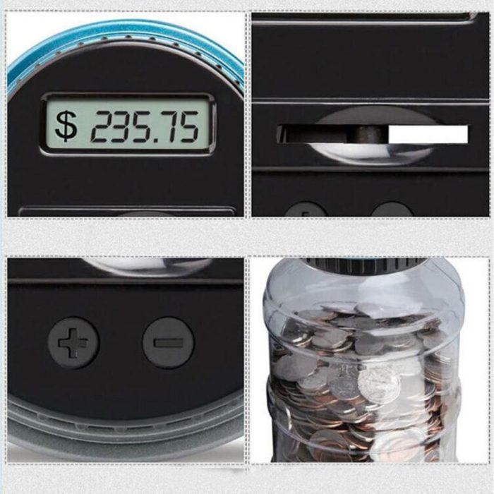Money-Saving Jar LCD Counting Lid