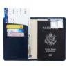 Leather Passport Wallet Card Holder