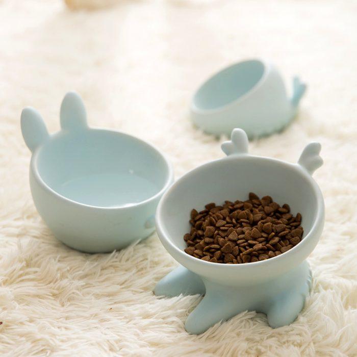 Ceramic Cat Bowl Raised Cat Dish