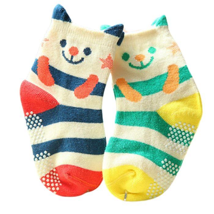 Non Slip Baby Socks Cotton Fabric