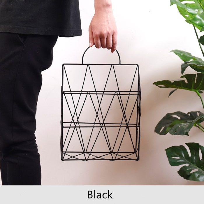 Wall Magazine Rack Metal Basket