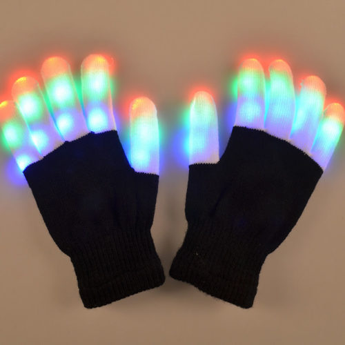 Light Up Gloves LED Party Supply