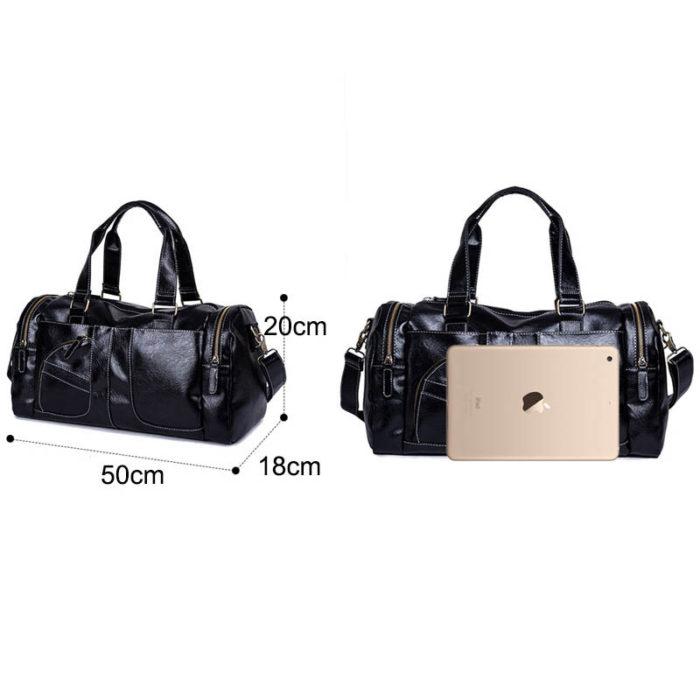 Travel Duffel Bag Leather Handbag