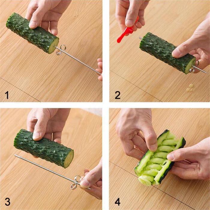 Spiral Vegetable Cutter Kitchen Tool