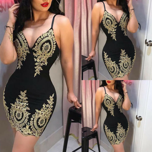 Sexy Bodycon Dress Elegant Fashionwear